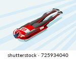 skeleton sled race athlete... | Shutterstock .eps vector #725934040