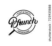 brunch hand written lettering... | Shutterstock .eps vector #725935888