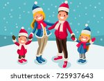 merry christmas 2018 and new... | Shutterstock .eps vector #725937643