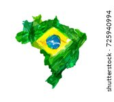 map of brazil. | Shutterstock . vector #725940994