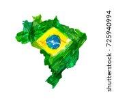 map of brazil.   Shutterstock . vector #725940994