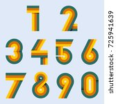 numbers set hipster  parallel...   Shutterstock .eps vector #725941639
