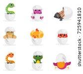 cute newborn animal characters... | Shutterstock .eps vector #725941810