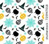 halloween seamless pattern....   Shutterstock . vector #725947018