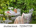 Cozy Tea Party At Garden With...