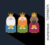 three kings on epiphany day and ... | Shutterstock .eps vector #725948374