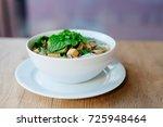 fresh vietnamese pho soup in... | Shutterstock . vector #725948464