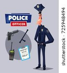 policeman character. cartoon... | Shutterstock . vector #725948494
