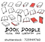 hand drawn book isolated.... | Shutterstock .eps vector #725949760
