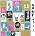 advent calendar for christmas.... | Shutterstock .eps vector #725954848