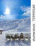 mountains ski resort kaprun... | Shutterstock . vector #725955160