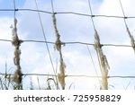selective focus of sheep wool... | Shutterstock . vector #725958829