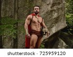 young man with muscular body... | Shutterstock . vector #725959120