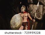 muscular confident man in... | Shutterstock . vector #725959228