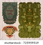 vector vintage items  label art ...   Shutterstock .eps vector #725959519