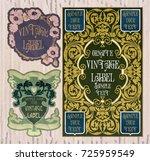 vector vintage items  label art ... | Shutterstock .eps vector #725959549