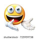 welcoming emoji isolated on... | Shutterstock . vector #725959738