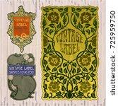 vector vintage items  label art ...   Shutterstock .eps vector #725959750