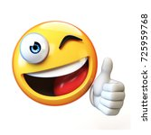 thumb up emoji isolated on... | Shutterstock . vector #725959768