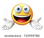 presenting emoji isolated on... | Shutterstock . vector #725959780