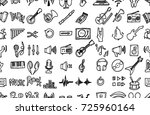 hand drawn seamless pattern... | Shutterstock .eps vector #725960164