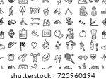 hand drawn seamless pattern... | Shutterstock .eps vector #725960194