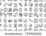 hand drawn seamless pattern... | Shutterstock .eps vector #725960200