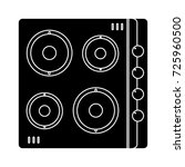 stove icon | Shutterstock .eps vector #725960500