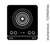 single stove icon | Shutterstock .eps vector #725960566
