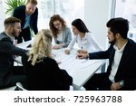 group of architects working... | Shutterstock . vector #725963788