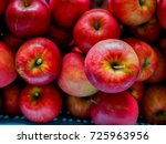 red apple  background  | Shutterstock . vector #725963956