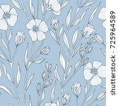 vintage style vector floral... | Shutterstock .eps vector #725964589