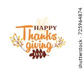 happy thanksgiving day event... | Shutterstock .eps vector #725964874
