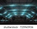 futuristic design spaceship... | Shutterstock . vector #725965936
