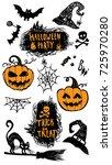 halloween vector set | Shutterstock .eps vector #725970280