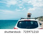 rear view of pre teen child in... | Shutterstock . vector #725971210