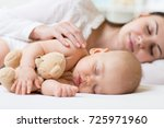 beautiful young mom and her... | Shutterstock . vector #725971960