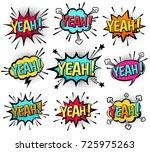yeah  vector. | Shutterstock .eps vector #725975263
