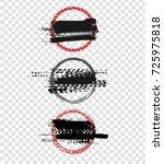 grunge off road stamp shaped... | Shutterstock .eps vector #725975818