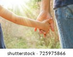 beautiful hands outdoors in a... | Shutterstock . vector #725975866