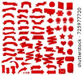 ribbon set | Shutterstock . vector #725977720