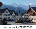old town at garmisch... | Shutterstock . vector #725978500