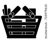 shopping basket full icon | Shutterstock .eps vector #725979610