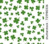 seamless clover pattern | Shutterstock .eps vector #725980336