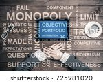 top view of businesswoman... | Shutterstock . vector #725981020