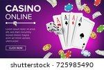 casino poker design vector.... | Shutterstock .eps vector #725985490