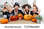 happy family mother father and... | Shutterstock . vector #725986684