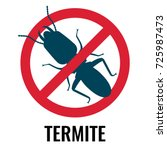 anti termite red and blue icon... | Shutterstock .eps vector #725987473