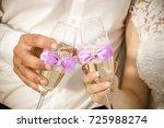 wedding background.happy...   Shutterstock . vector #725988274