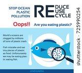 stop ocean plastic pollution... | Shutterstock .eps vector #725990254